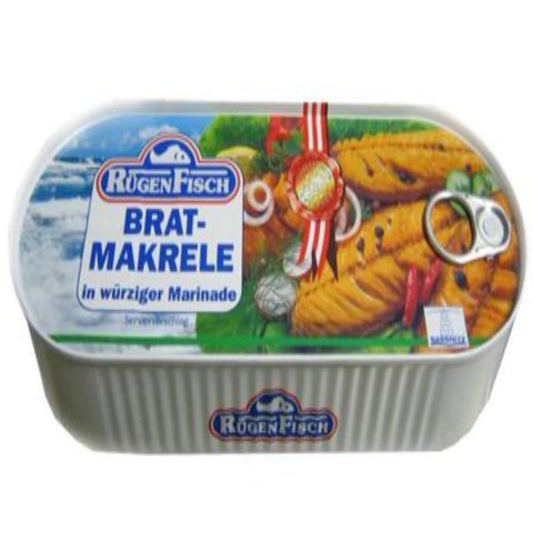 RUGEN FISH FRIED MACKEREL FILLETS IN SPICY MARINADE
