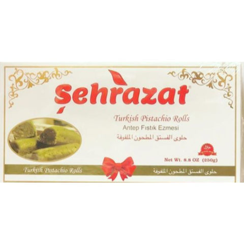 SEHRAZAT ROLLED TURKISH DELIGHT WITH PISTACHIO & POMEGRANATE - FITIL NARLI LOKUM