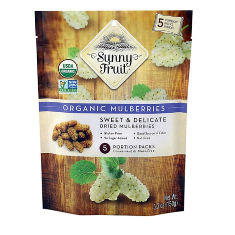 SUNNY FRUIT ORGANIC DRIED MULBERRIES