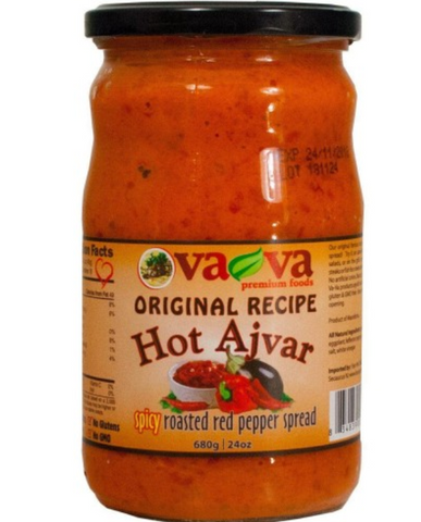 VAVA ORIGINAL RECIPE HOT AJVAR SPICY ROASTED RED PEPPER SPREAD