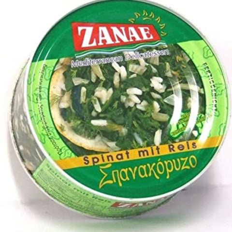 ZANAE MEDITERRANEAN DELICATESSEN SPINACH WITH RICE