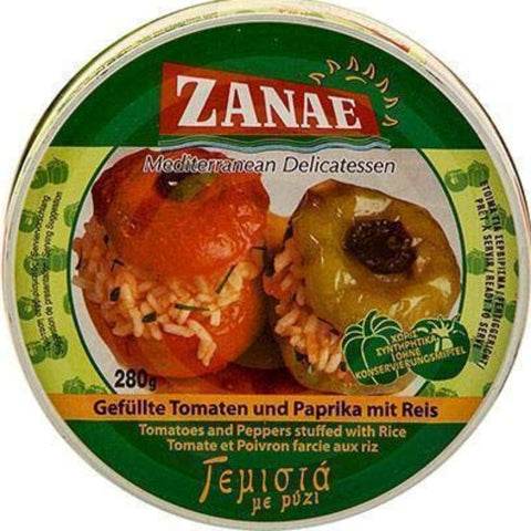 ZANAE MEDITERRANEAN DELICATESSEN TOMATOES AND PEPPERS STUFFED WITH RICE