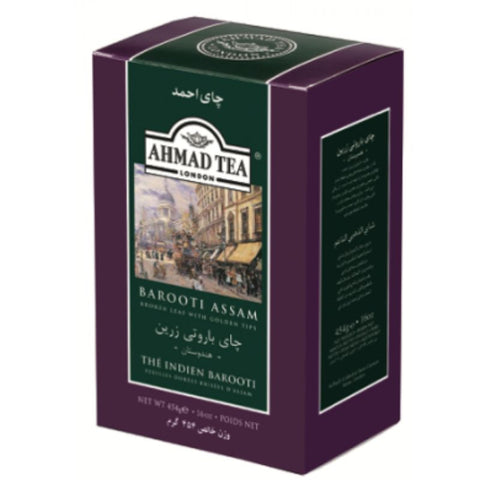 AHMAD TEA BAROOTI ASSAM NET 500 GRAM - European Grocery USA
