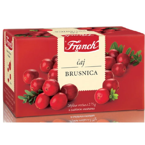 FRANCK CRANBERRY TEA 20 TEA BAGS - European Grocery USA