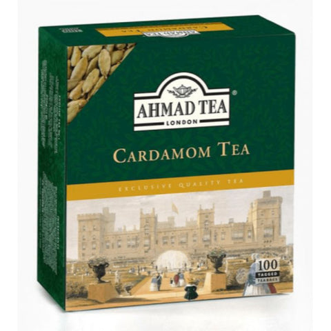 AHMAD TEA CARDAMOM TEA PACK OF 100 TEA BAGS - European Grocery USA