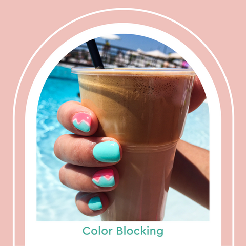 Color Blocking Summer 2021 Nail Trends