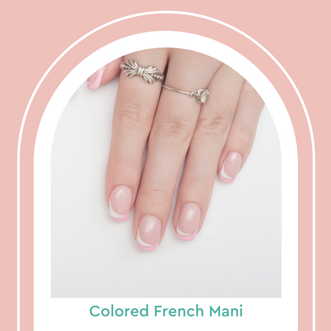 Colored French Manicure Tips Summer Nail Trends 2021