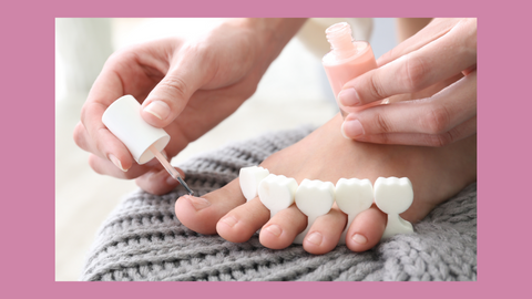 How To At-Home Pedicure with Nail Polish for older women