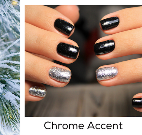 Chrome Accent Black Nail Art Trends Winter 2020 Bellasonic At-Home Manicure Kit