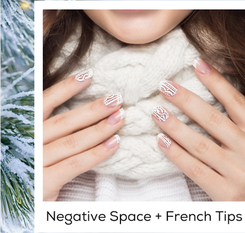 Negative Space + French Tips Nail Art Trends Winter 2020 PIN