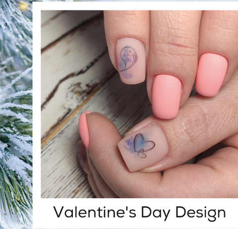 Light Pink Nails Valentine's Day Design Nail Art Trends Winter 2020 At-Home DIY Nails
