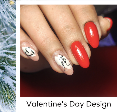 Valentine's Day Design Nail Art Trends Winter 2020 At-Home Manicures