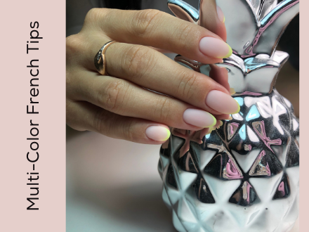 Multi Color French Manicure Fall Nail Trends 2020