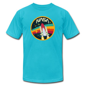 Vintage NASA Space Shuttle - turquoise