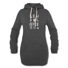 Load image into Gallery viewer, Stem Femme Hoodie Dress - heather black