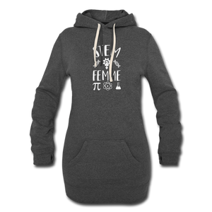 Stem Femme Hoodie Dress - heather black