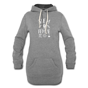 Stem Femme Hoodie Dress - heather gray