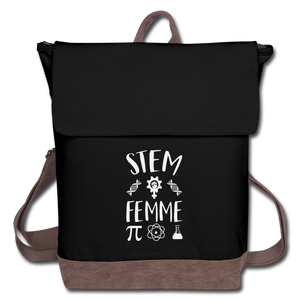 Stem Femme Canvas Backpack - black/brown