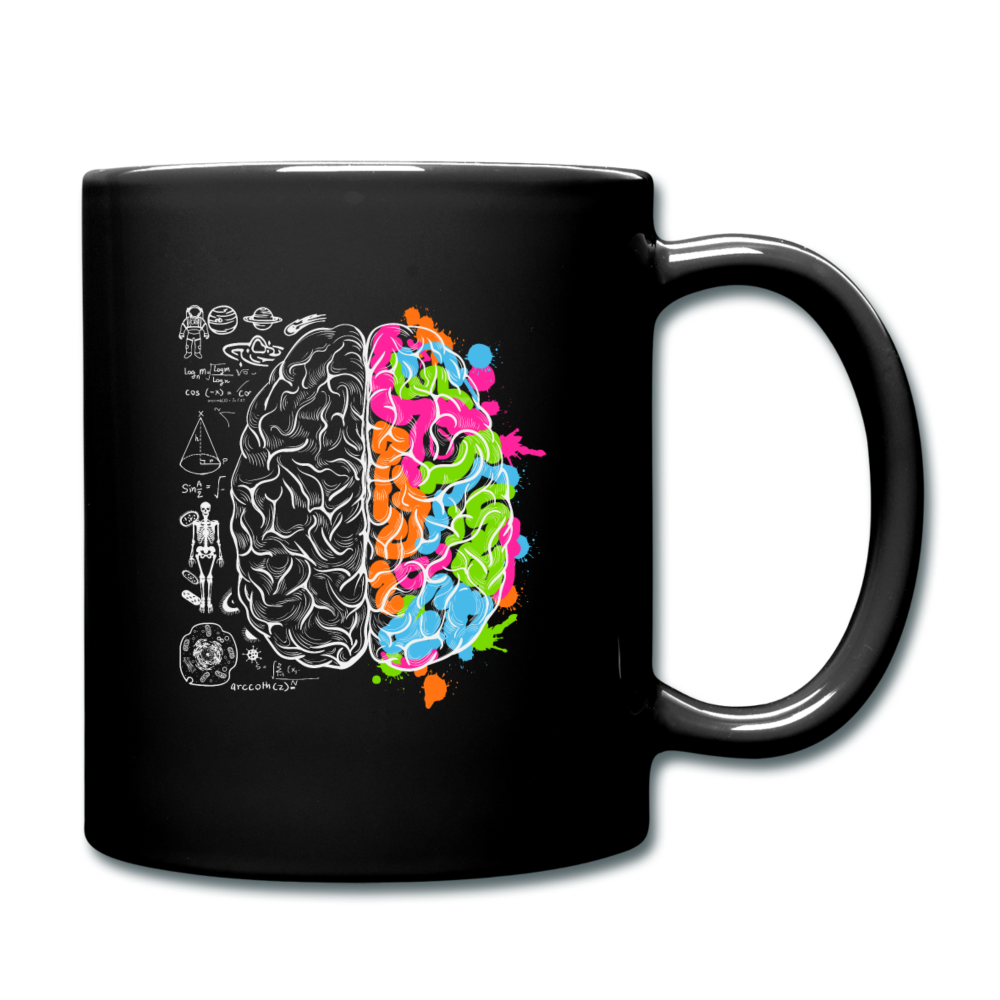 Colorful Art and Science Of The Brain Mug - black