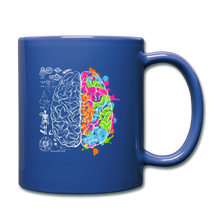 Load image into Gallery viewer, Colorful Art and Science Of The Brain Mug - royal blue
