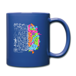 Colorful Art and Science Of The Brain Mug - royal blue