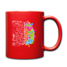 Load image into Gallery viewer, Colorful Art and Science Of The Brain Mug - red