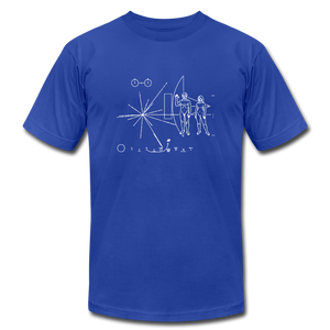 Space Exploration Pulsar Map Voyager - royal blue