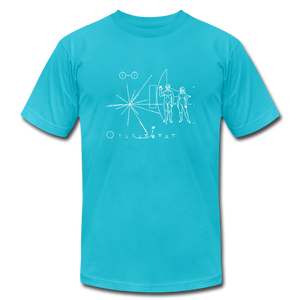 Space Exploration Pulsar Map Voyager - turquoise