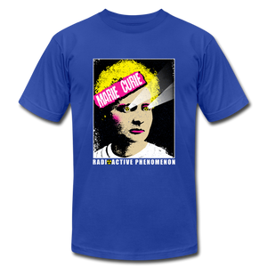 Marie Curie Radioactive Phenomenon - royal blue