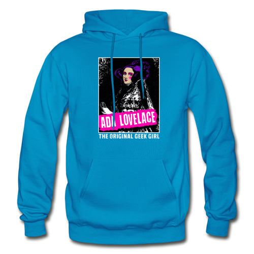 Ada Lovelace | The Original Geek Girl Hoodie - turquoise