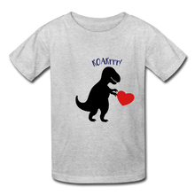 Load image into Gallery viewer, T-Rex ROARrrr Kids' T-Shirt - heather gray