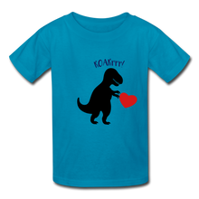 Load image into Gallery viewer, T-Rex ROARrrr Kids' T-Shirt - turquoise