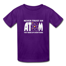 Load image into Gallery viewer, Never Trust an Atom Kids' T-Shirt - purple