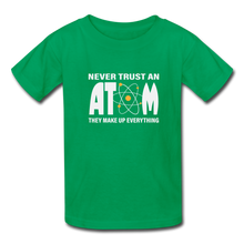 Load image into Gallery viewer, Never Trust an Atom Kids' T-Shirt - kelly green