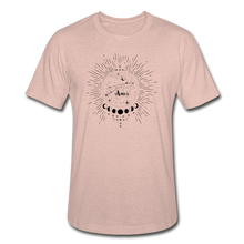 Load image into Gallery viewer, Aries Heather Prism Zodiac T-Shirt - heather prism peach