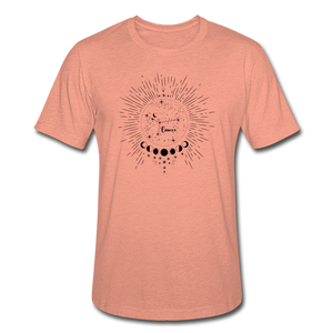 Cancer Heather Prism Zodiac T-Shirt - heather prism sunset