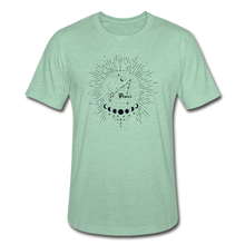 Load image into Gallery viewer, Pisces Heather Prism Zodiac T-Shirt - heather prism mint