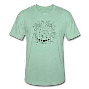 Gemini Heather Prism Zodiac T-Shirt - heather prism mint