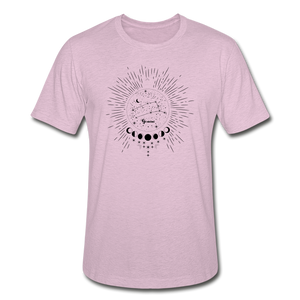 Gemini Heather Prism Zodiac T-Shirt - heather prism lilac