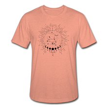 Load image into Gallery viewer, Leo Heather Prism Zodiac T-Shirt - heather prism sunset