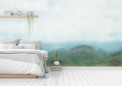 Abstract Forest bedroom wall mural