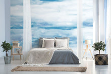 Load image into Gallery viewer, Blue abstract sky bedroom wall mural