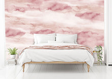 Load image into Gallery viewer, Coral sky cloud bedroom wall mural