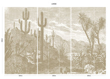 Load image into Gallery viewer, Brown vintage cactus bedroom wall mural