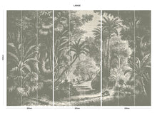 Load image into Gallery viewer, Brown vintage jungle bedroom wall mural