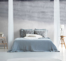 Load image into Gallery viewer, Grey abstract ombre bedroom wall mural