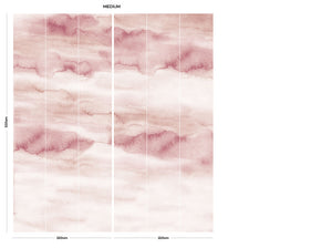 Coral sky cloud bedroom wall mural