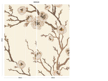 Load image into Gallery viewer, Cream Japanese Floral bedroom wall mural