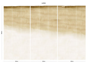 Cream abstract ombre bedroom wall mural
