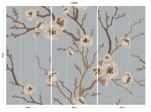 Load image into Gallery viewer, Duck Egg Japanese Floral bedroom wall mural